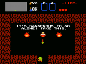 It's dangerous to go alone! Legend of Zelda, 1986